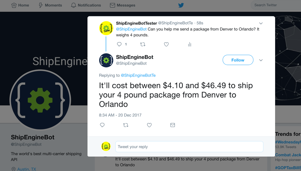 Build a natural language Twitter bot